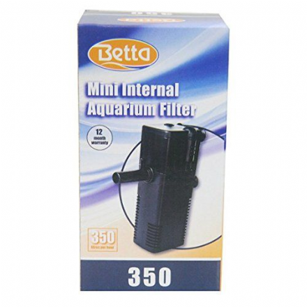 Betta 350 Aquarium Mini Filter For Up To 55L Ideal For Turtles / Breeding